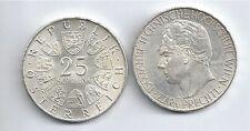 ÖSTERREICH AUSTRIA SILBER 25 SCHILLING 1965 PRECHTL