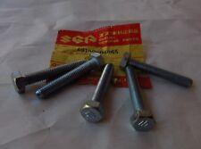 """SUZUKI Qty 5 Vintage EMBOSSED """"S"""" 6mm x 40mm BOLT TM400 GT750 T500 TS250 TS185"""