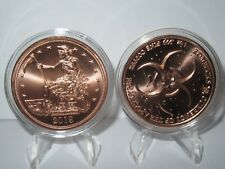 Slayed Dollar - Zombucks Currency of the Apocalypse Lot of 2 Copper Rounds .999