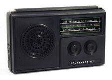 Alpinist-417 Russian Portable Radio Transistor Receiver Ussr 1980 Mw Am Lw Works