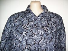 BOYS BRIGALOW LS WESTERN STYLE PAISLEY SHIRT SILVER BLUE 100% COTTON SIZES 0-16