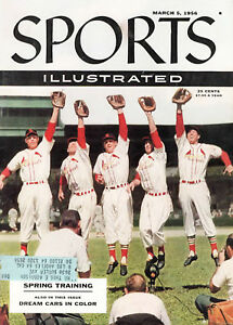 1956--SPORTS ILLUSTRATED--CARDS MUSIAL-MOON-REPULSKI ON COVER--XLNT+