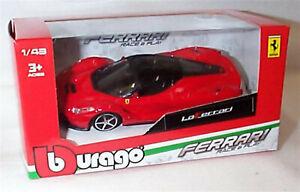 Ferrari LaFerrari in red 1:43 scale burago Race & play New in Pack