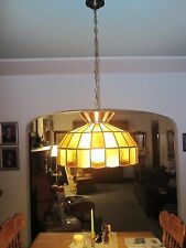 lamp..hanging ..hand crafted German glass, 80 pieces , hand made , amber colors,