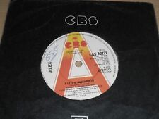 "Alex I Love Warsaw b/w Dream Boy 7"" Promo Single 1982 CBS A2271 White Label"