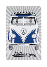 Metal Sign Vintage Camper Van Bus T1 Volkswagen VW Collection by BRISA BB5005