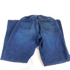 "Indigo Blue Maternity Dark Wash Blue Jeans Belly Band Size PL Inseam 27.5"""
