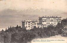 BR36362 Cergue Hotel de l Observation et le mont blanc     Switzerland
