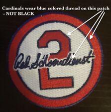 Red Schoendienst Patch WHITE Clr St Louis Cardinals Baseball Jersey #2 Memorial