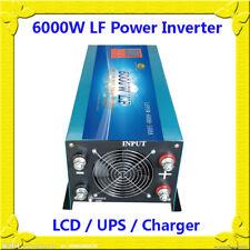 "6000W LF Split Phase 24V DC/110V,220V AC 60Hz PowerInverter 3.5""LCD/UPS/Charger"