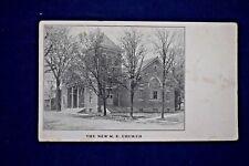 Antique Real Photo Postcard St. Paul M. E. Church Roseville Ohio Unposted