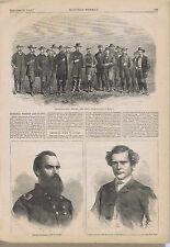 Civil War Generals Wright & Geary - Francis Muller, British Train Murderer 1864