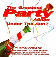 THE GREATEST PARTY ALBUM UNDER THE SUN - 2 X CDS 60S 70S 80S 90S DANCE CD CDJ DJ