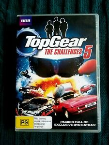 TOP GEAR THE CHALLENGES 5 – DVD, 2-DISC  REGION-4, VERY GOOD, FREE POST AUS-WIDE