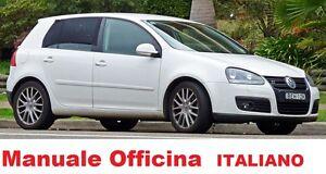Volkswagen GOLF Quinta serie 5° 2003/2008 Manuale OFFICINA Riparazione ITALIANO