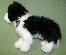 "14"" DOUGLAS BORDER COLLIE PUPPY DOG PLUSH STUFFED ANIMAL CUDDLE TOYS BLACK WHITE"