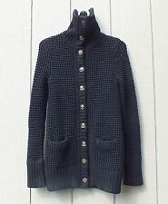 Aerie Women's Knitted sweater long cardigan button down black, Size S/P
