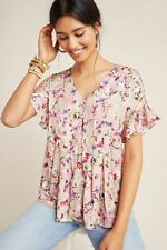 Anthropologie  Mitzi Pleated Blouse size M new nwt