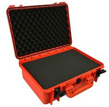 Waterproof Watertight Camera Hard Case With Foam EL1606 Orange Dslr Mirrorless +