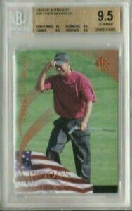 Tiger Woods 2003 Upper Deck SP Authentic National Pride BGS 9.5 Gem Mint Quad 10
