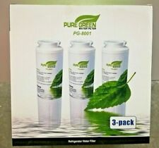 3 Pure Green Water Filter 3 Pack PG-8001 Certified Refrigerator Maytag UKF8001