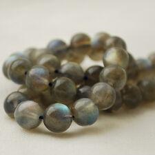 "Grade AAA Natural Labradorite Semi-precious Gemstone 8mm Round Beads - 15.5"""