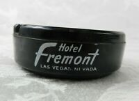Vintage Ashtray - Hotel Fremont Las Vegas Black Glass