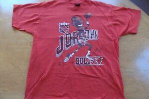 🏀Michael Jordan 1980s T-Shirt LG VINTAGE Retro 1988 RARE MVP Chicago Bulls used
