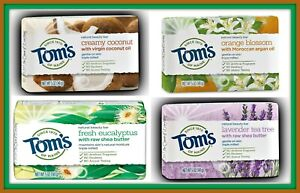 Tom's of Maine Natural Beauty Bar Soap--Lot of 6--Four Varieties You Choose!