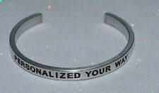 Personalized Your Way / Engraved, Polished Bracelet + Gift Bag