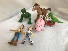 Disney/Pixar Toy Story Woody,Jessie,Hamm Bullseye & Rex Figures Lot Clean