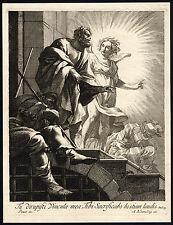 Antique Master Print-SAINT PETER-LIBERATION-PRISON-Blooteling-Vouet-ca. 1660