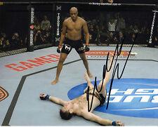Anderson Silva Originale Autografato 10X8 Foto (UFC) BRASILE AFTAL COA (D)