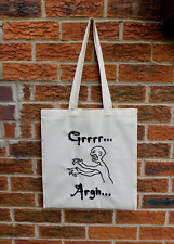 Buffy the Vampire Slayer Grrrr Argh Mutant Enemy inspired tote bag long handles