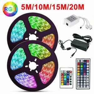 20M 15M 10M 5M 300 LED 3528 5050 RGB LED Strip Lights Flexible 12V Waterproof AU