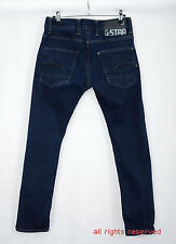 P526/40 G-Star Raw 01 DENIM blu cotone/Stirare SUPER SLIM FIT JEANS, W32 L30