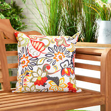 Abstract Floral Water Resistant Outdoor Printed Garden Scatter Cushion Cane