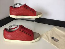 LANVIN Red Leather Lambskin sneakers Shoes Pumps Size 38 Uk 5 Flats
