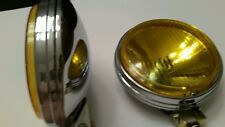 Pair of 6in round yellow fog lights retro vw awd 4×4 4wd dune buggy truck bug Mg