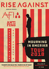 RISE AGAINST/AFI/ANTI FLAG 2018 PHILADELPHIA CONCERT TOUR POSTER-Punk Rock Music