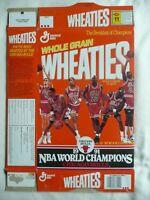 1991 CHICAGO BULLS NBA CHAMPIONSHIP MICHAEL JORDAN WHEATIES BOX CEREAL BOX FLAT