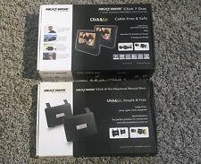 """Next Base Click 7 Duo - 7 """"pantalla Doble Reproductor De Dvd Portátil + clic e ir de montaje"""