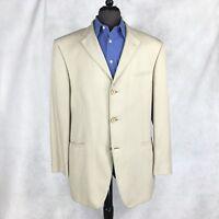 Joseph & Feiss mens beige silk Lightweight blazer jacket 44R to 46R