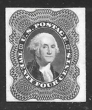#45P4 VF 24¢ WASHINGTON PROOF on CARD-1st Issue Reprint-NGAI SC $60 (#45P4)