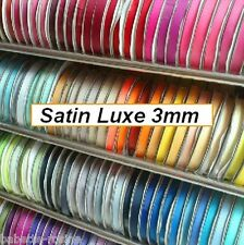 RUBAN SATIN Double Face 3 mm - LOT de 15 Mètres 15 couleurs COUTURE SCRAPBOOKING