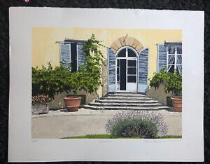 "ILANA RICHARDSON Limited Edition SCREENPRINT ""Selvapiana"" 60/225 italian Villa"