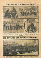 Maneuvers Engaged Volunteers Magic City British Army UK/Zouaves Raiway WWI 1914