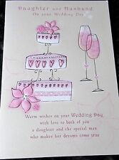 Daughter and Husband on your Wedding Day Card by Poetry In Motion Cards.