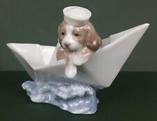 Lladro Figurine - Little Stowaway (Boat) – Model No. 6642 (Ceramic, Porcelain)