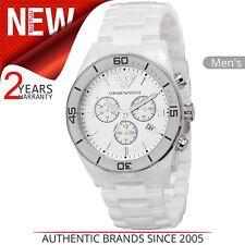 Emporio Armani Blue Ar1058 Round Silicone Watch Wristwatch